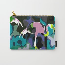 camuflage flamingo blue Carry-All Pouch