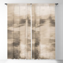 Fusion Abstract Watercolor Blend Pantone Hazelnut / Fluid Art Ink Blackout Curtain