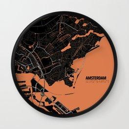 Amsterdam Minimalist Map Wall Clock