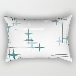 Mid Century Modern Stars (Teal) Rectangular Pillow