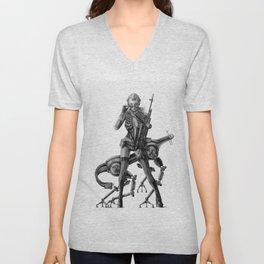 SCI-FI Woman Warrior Unisex V-Neck