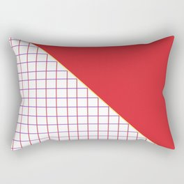 Geometrics in Red and Purple Rectangular Pillow