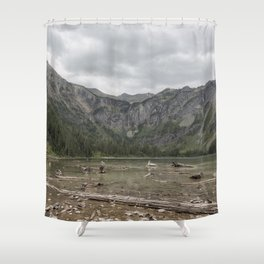 Avalanche Lake No. 1 - Glacier NP Shower Curtain