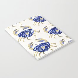 Crab – Navy & Gold Notebook