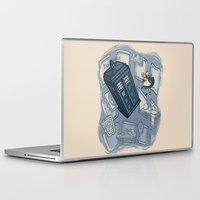 hallion Laptop & iPad Skins featuring Falling by Karen Hallion Illustrations