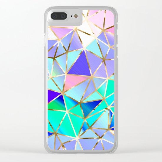 Rainbow Geometric pattern #6 Clear iPhone Case