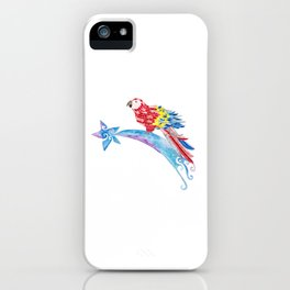 Scarlet macaw making a wish iPhone Case