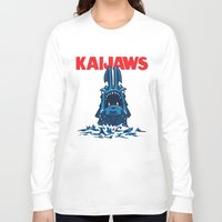 pacific rim Long Sleeve T-shirts featuring KaiJaws (Pacific Rim/Jaws) by Tabner's