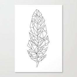 Geometric Feather Canvas Print