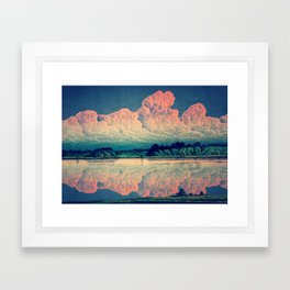 Admiring the Clouds in Kono Framed Art Print