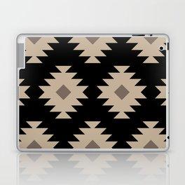 Southwestern Pattern 521 Black and Beige Laptop & iPad Skin