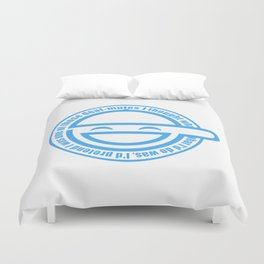 The Laughing Man Duvet Cover
