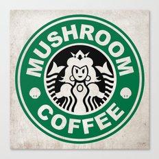 Super Mario's Mushroom Coffee Canvas Print