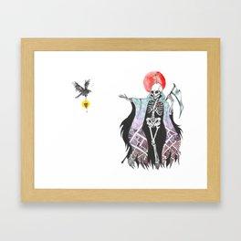 The Reaper's Raven Framed Art Print