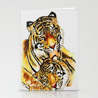 tigers Stationery Cards featuring Tigers by DrewzDesignz