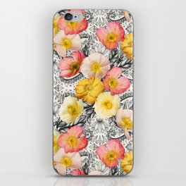Collage of Poppies and Pattern iPhone Skin