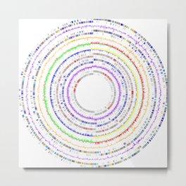 Genome Circles 2 Metal Print