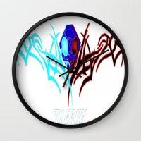 bleach Wall Clocks featuring Bleach Logo by winterknight