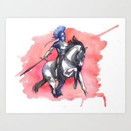 Noble Knight Art Print