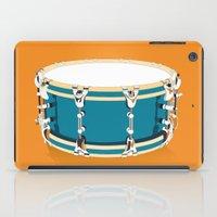 drum iPad Cases featuring Drum - Orange by Ornaart