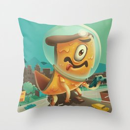 Attack of the 50 Ft. Pizza Throw Pillow