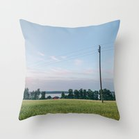 finland Throw Pillows featuring Finland by Johannes Valkama