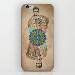 Arabesque Deck of Cards King Clubs iPhone Skin