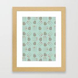 Pin Cushion Needles Sewing Hand Crafts Framed Art Print