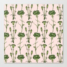 Green Carnations  Canvas Print