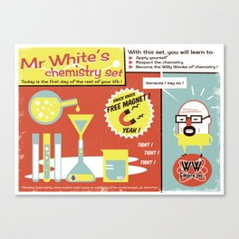 Walter White's Chemistry set Canvas Print