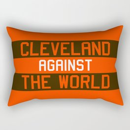 Cleveland Against The World Rectangular Pillow