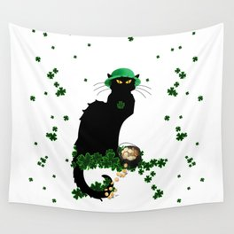 Le Chat Noir - St Patrick's Day Wall Tapestry
