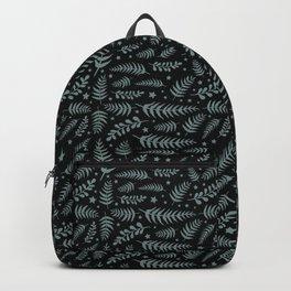 Black Leaf Pattern Backpack