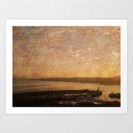 Calm Harbour Art Print