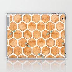 Honey Bee Hexagons Laptop & iPad Skin