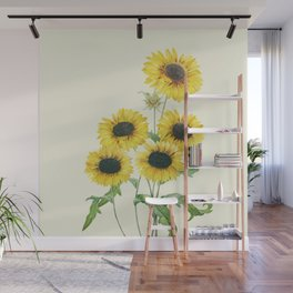 Sunflowers Wall Mural
