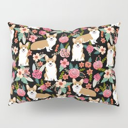 Corgi Florals - vintage corgi and florals gift great for corgi lovers, corgi gift, corgi florals, co Pillow Sham