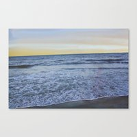 rileigh smirl Canvas Prints featuring Ocean Sunset by Rileigh Smirl