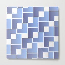 Blue Interlace Metal Print