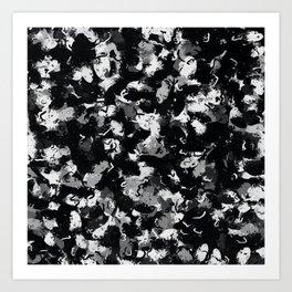 Shades of Gray and Black Oils #1979 Art Print