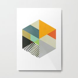 Scandinavian Hexogen Abstract Metal Print