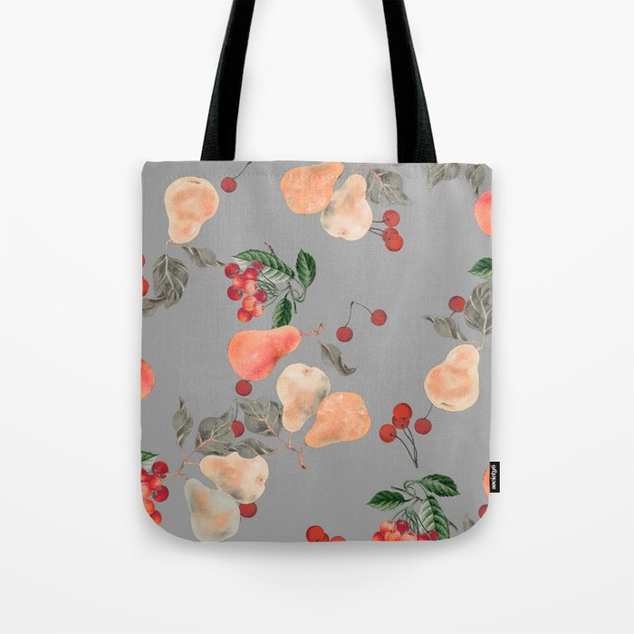 cherries and pears winter Tote Bag