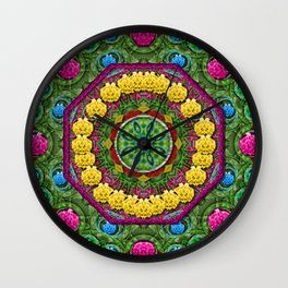 Bohemian chic in fantasy style Wall Clock