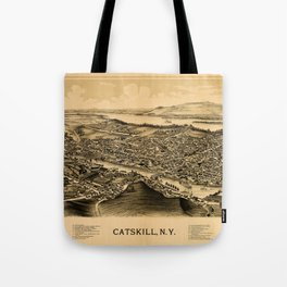 Map Of Catskill 1889 Tote Bag