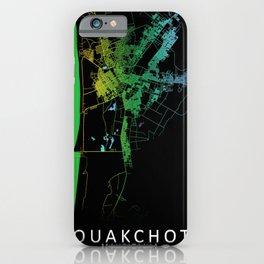 Nouakchott, Mauritania, City, Map, Rainbow, Map, Art, Print iPhone Case