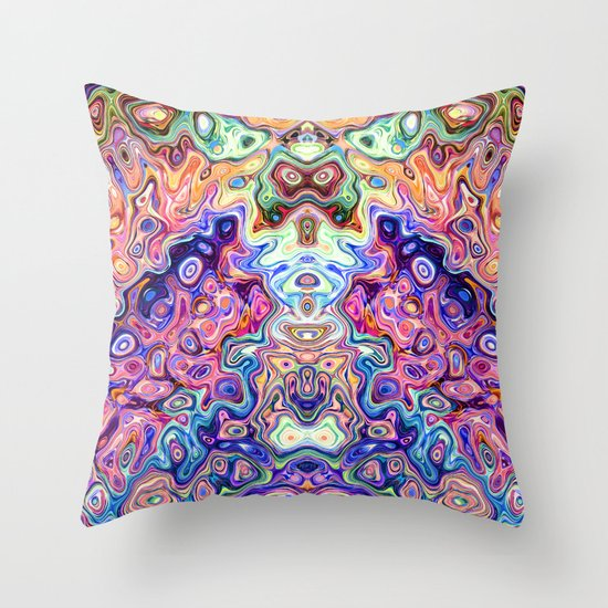 Faces In Abstract Shapes 8 Throw Pillow by Phil Perkins Society6