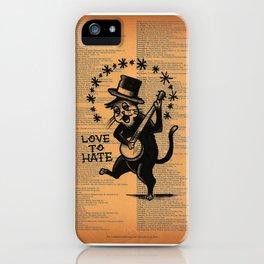 love 2 hate iPhone Case