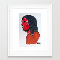 neil young Framed Art Prints featuring Neil Young by Urban Knish