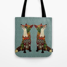 fox love juniper Tote Bag