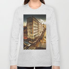 chinatown in nyc at dusk Long Sleeve T-shirt